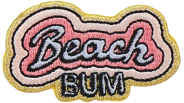 Beach Bum Sticker Patch