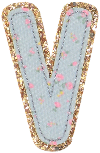 LoveShackFancy x Stoney Clover Lane Bella Blue Glitter Letter Patches