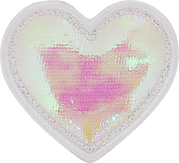 Puffy Iridescent Heart Patch