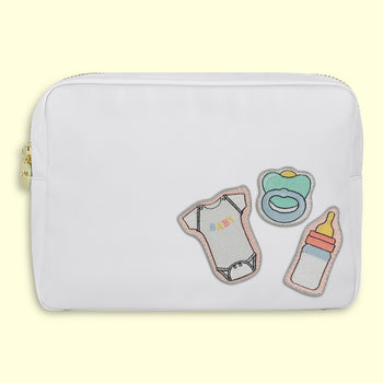 Blanc 'Baby' Large Pouch