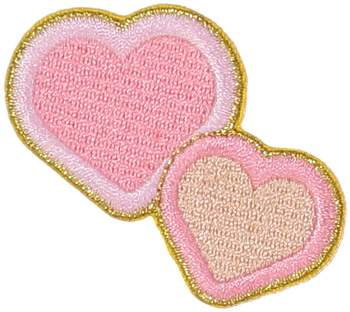 Double Hearts Sticker Patch