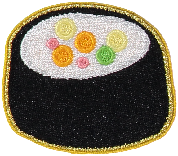 Sushi Roll Sticker Patch
