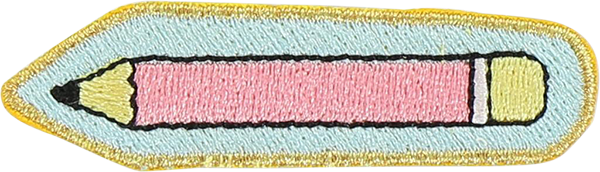 Pencil Sticker Patch
