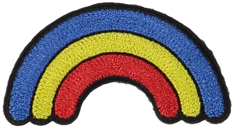 Primary Rainbow Sticker Patch