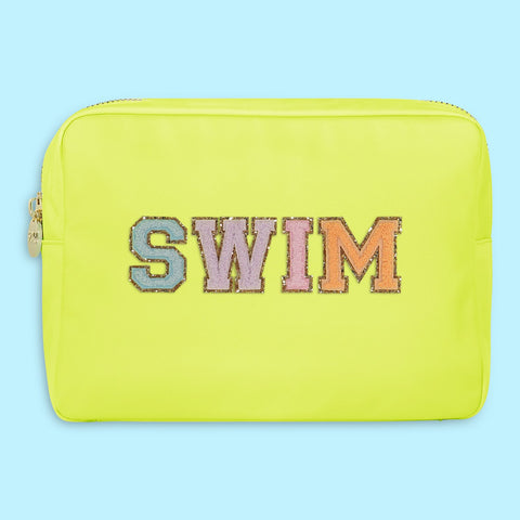 Lime 'Swim' Large Pouch