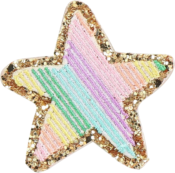 Glitter Rainbow Star Patch