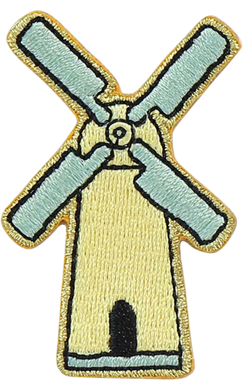 Windmill Sticker Patch