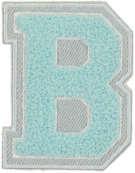 Cotton Candy Denim Varsity Letter Patches