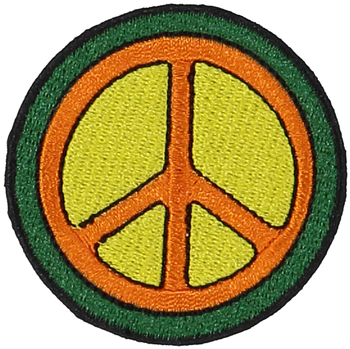 Primary Peace Sign Sticker Patch