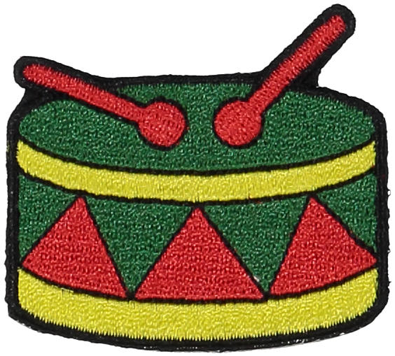 Primary Drum Sticker Patch