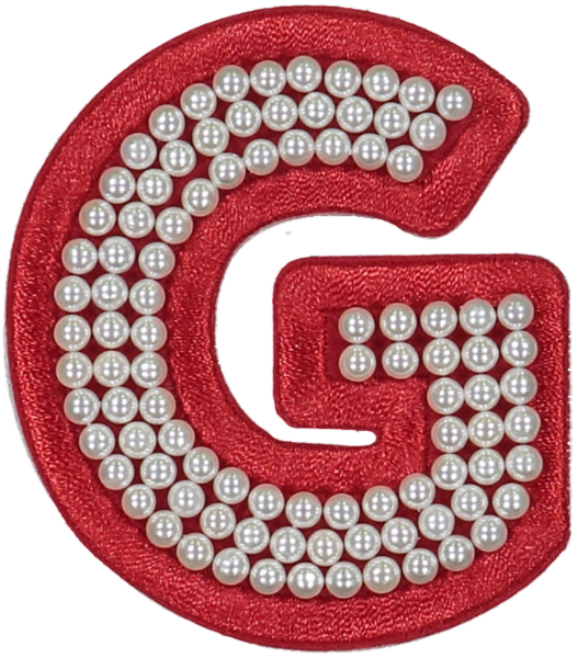 Ruby Pearl Letter Patches