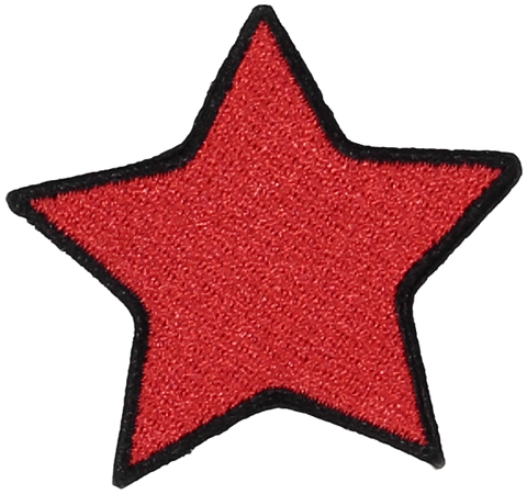 Primary Ruby Star Sticker Patch
