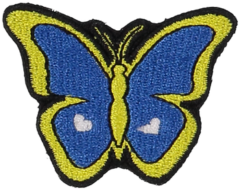 Primary Butterfly Sticker Patch
