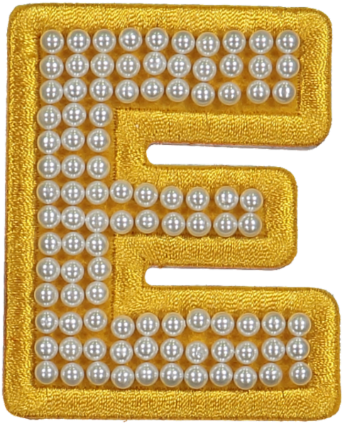 Citrine Pearl Letter Patches