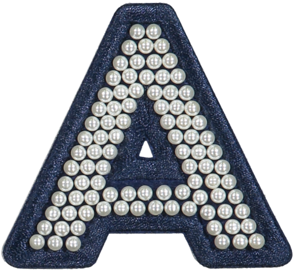 Sapphire Pearl Letter Patches