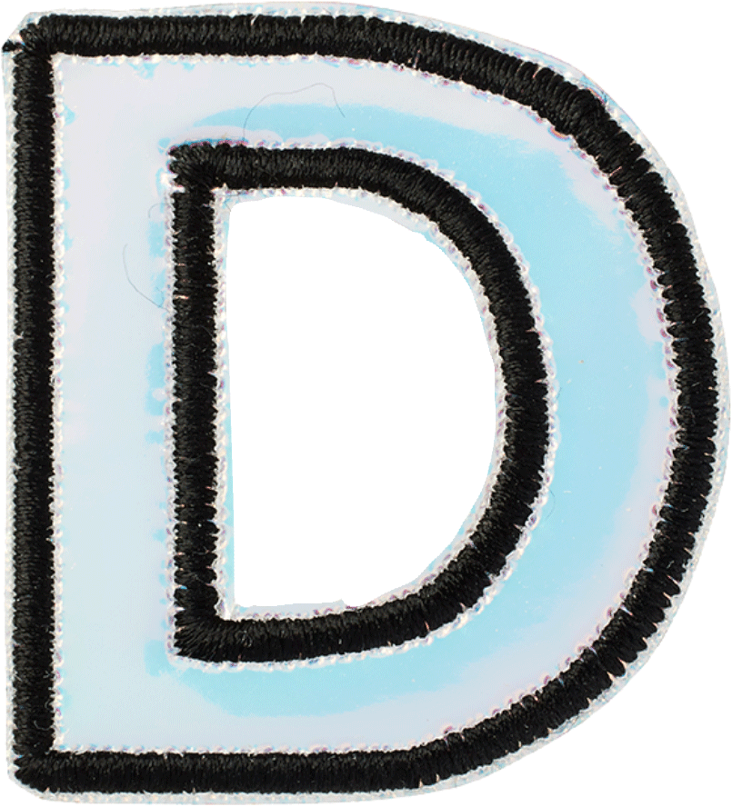 "Iridescent 1.5"" Letter Patches"