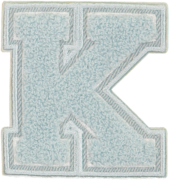 Sky Denim Varsity Letter Patches