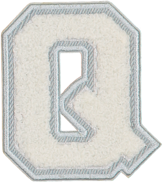 Blanc Denim Varsity Letter Patches