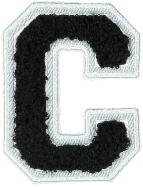 Noir Denim Varsity Letter Patches
