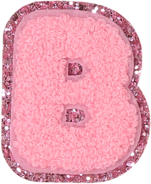 Hello Kitty Pink Glitter Letter Patches