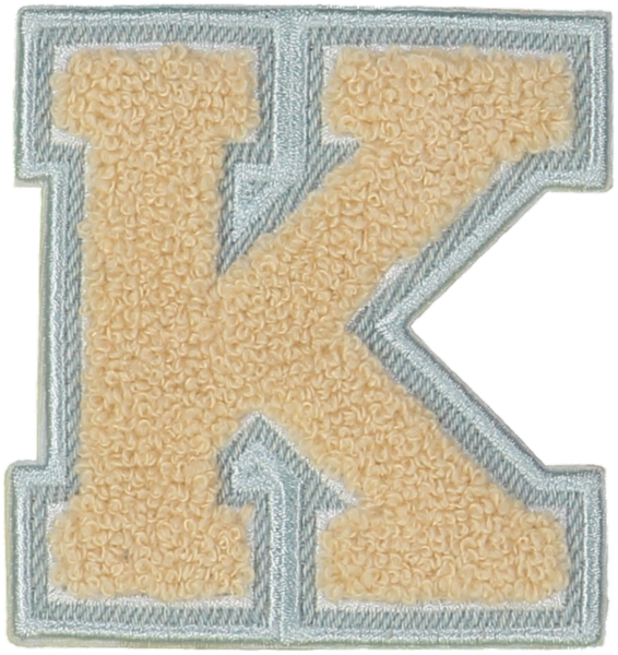 Sand Denim Varsity Letter Patches