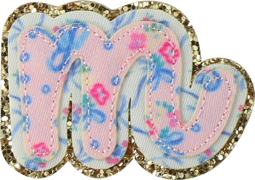 LoveShackFancy x Stoney Clover Lane Baby Bell Pink Script Letter Patches