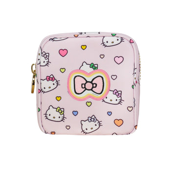 Hello Kitty Heart Mini Pouch with Hello Kitty Colorful Bow Patch