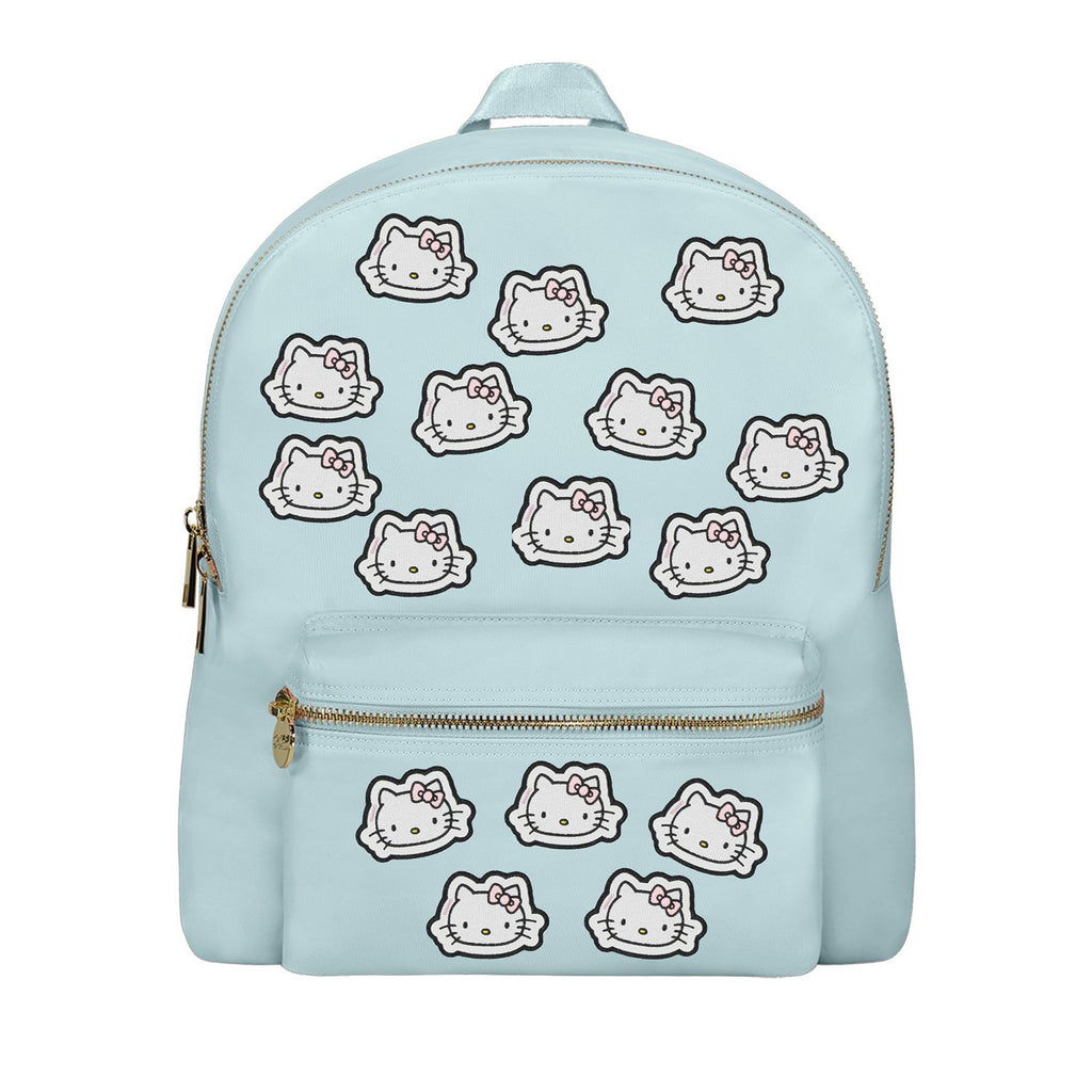 Sky Backpack with Hello Kitty Face Patches