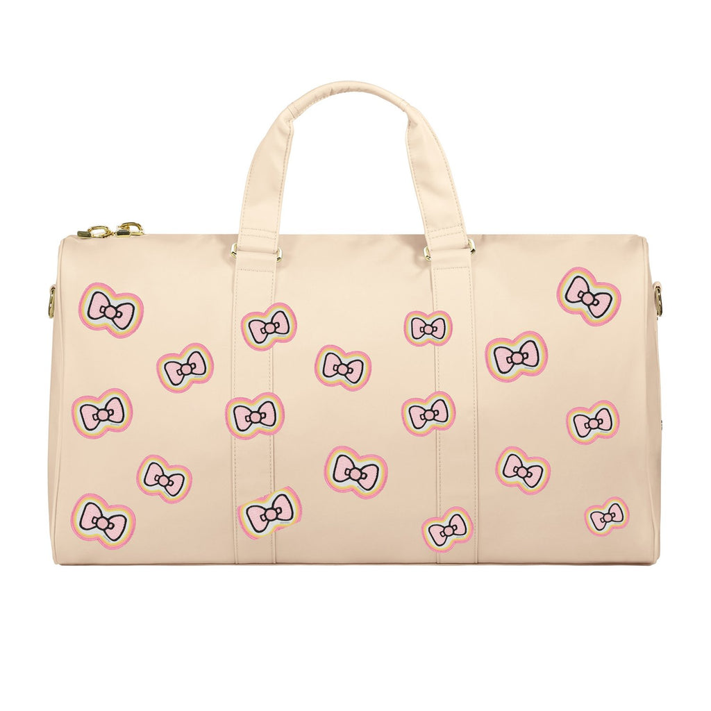 Sand Duffle Bag with Hello Kitty Colorful Bow Patches