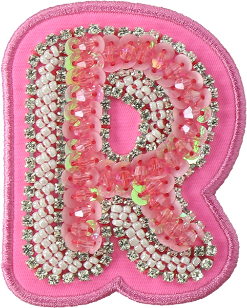 Hibiscus Bejeweled Letter Patches
