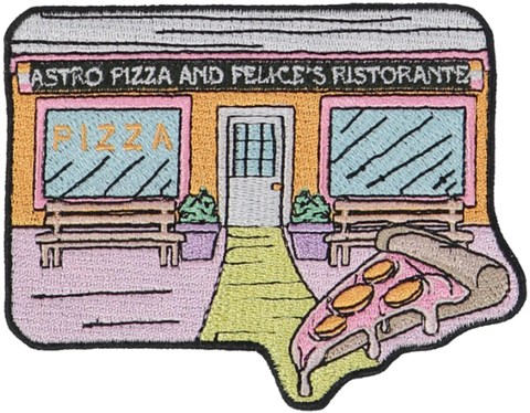 Astro Pizza Sticker Patch