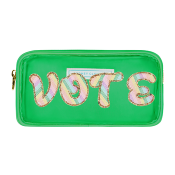 Avocado Clear Small 'Vote' Pouch