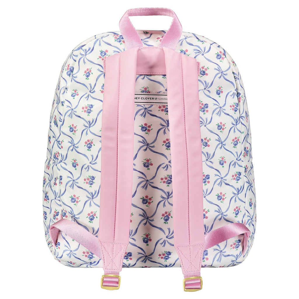 LoveShackFancy x Stoney Clover Lane Blue Ribbon Backpack