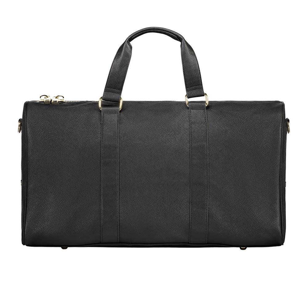 Textured Leather Duffle Bag