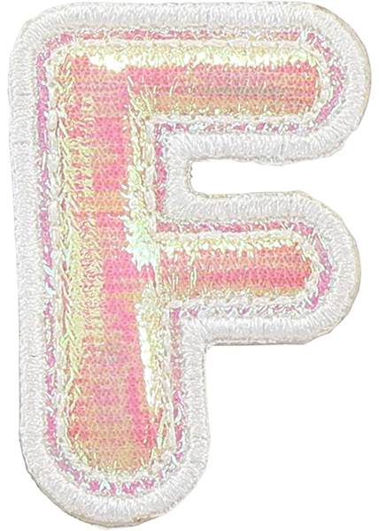Puffy Iridescent Letter Patches