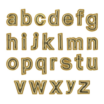 Gold Puffy Letters