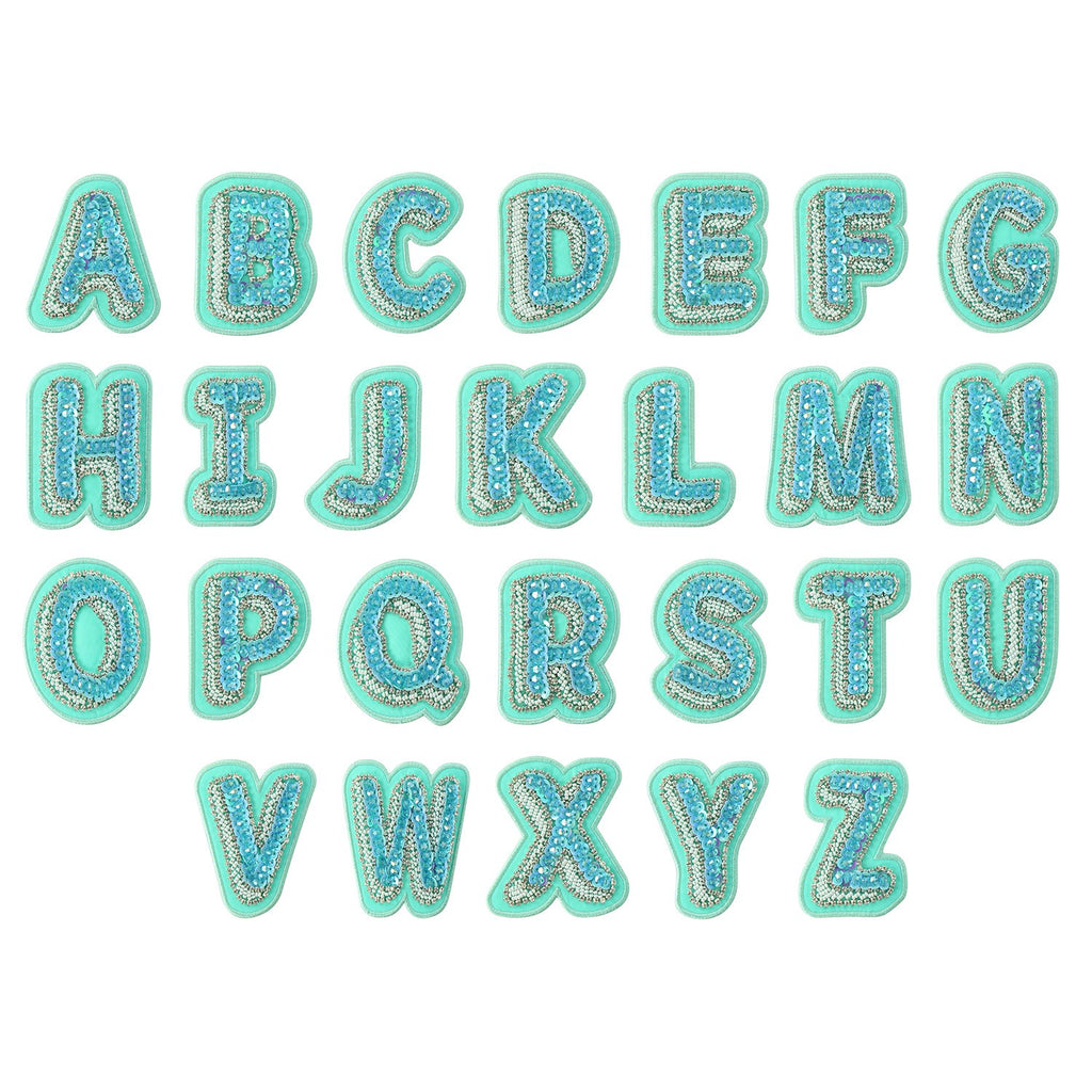 Lagoon Bejeweled Letter Patches