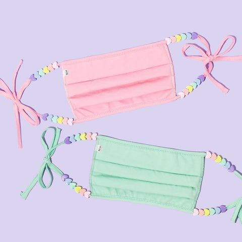 Pastel Heart Masks Set of 2