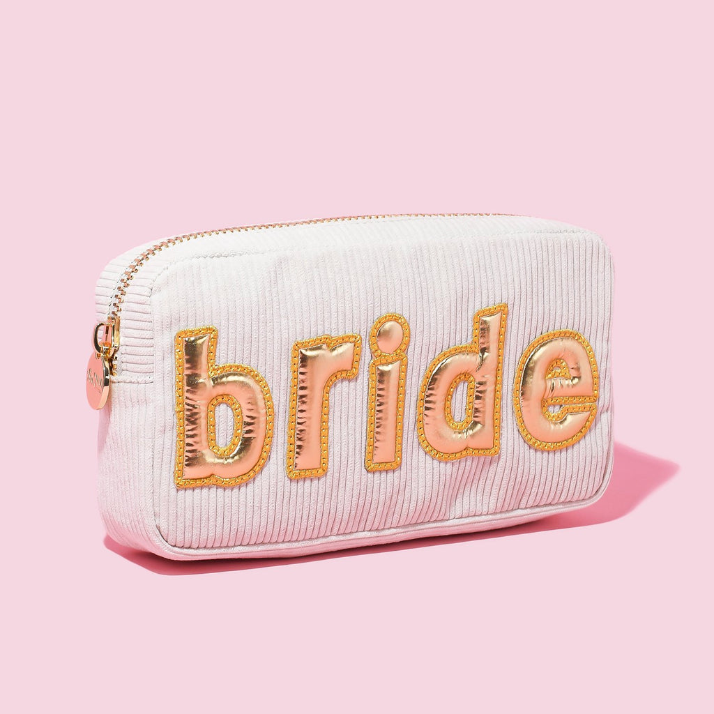 Toasted Marshmallow Corduroy Small 'Bride' Pouch