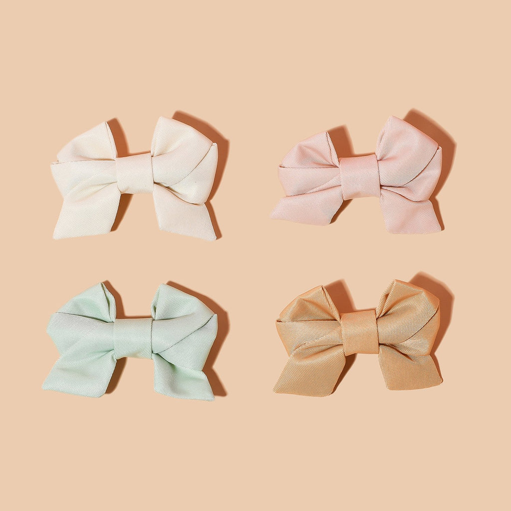 Fall Nylon Mini Bow Set
