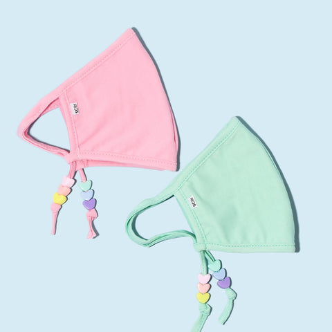 Petite Pastel Heart Masks Set of 2