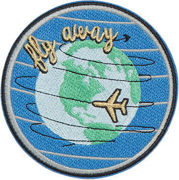 Fly Away Sticker Patch