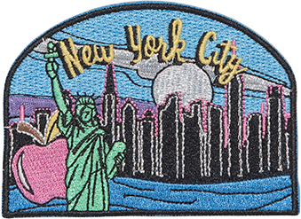 New York City Sticker Patch