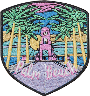 Palm Beach Sticker Patch