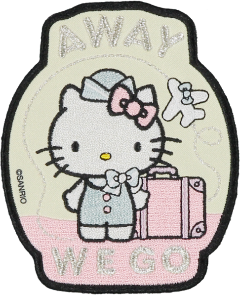 Hello Kitty Away We Go Embroidered Sticker Patch Stoney Clover Lane