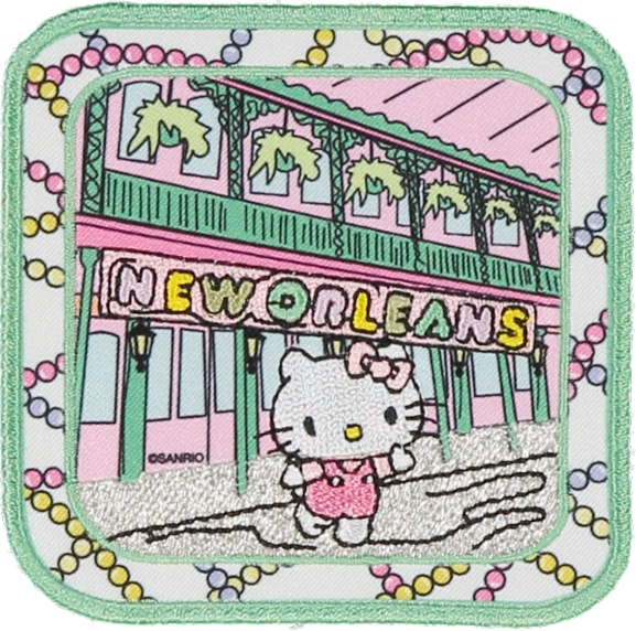 PRE ORDER Hello Kitty New Orleans Patch
