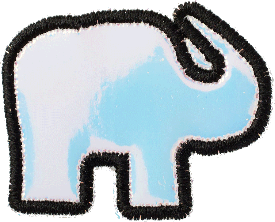 Iridescent Elephant Patch