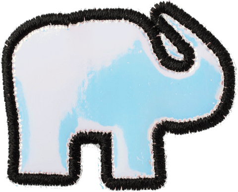 Puffy Iridescent Elephant Patch