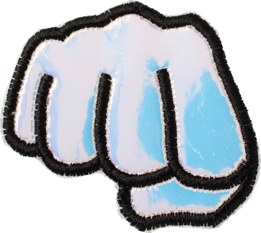 Puffy Iridescent Fist Patch