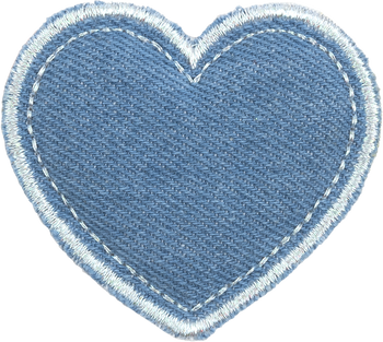 Blue Jean Heart Patch